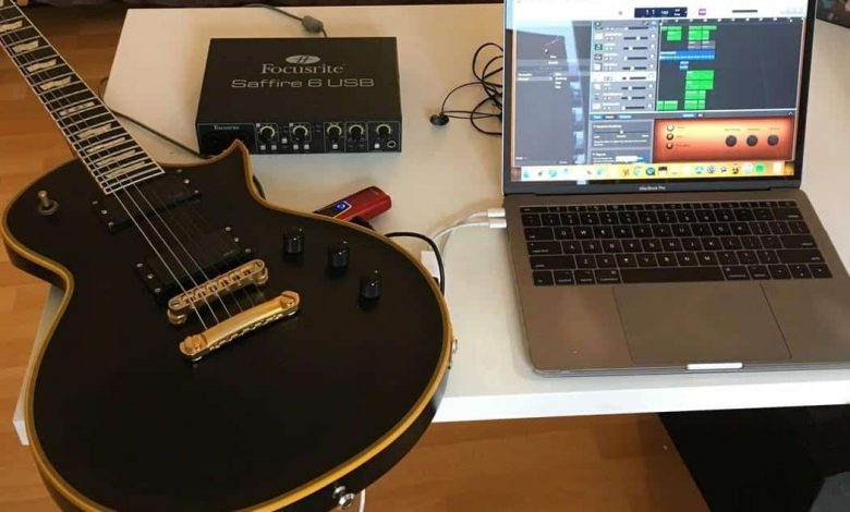 How to connect guitar to laptop for recording?